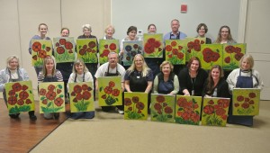 Group photo from Paint and Sip party