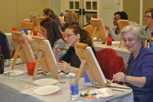 Painters at Bulle Rock Paint and Sip Party