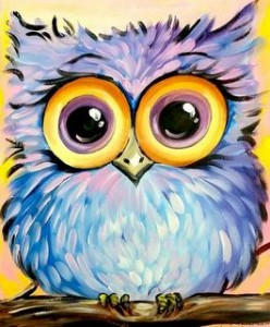 6ead236bd Who wants to paint this owl  Easy fun painting for all those owl lovers.  This is a family and friends event so it is open to everyone to paint.